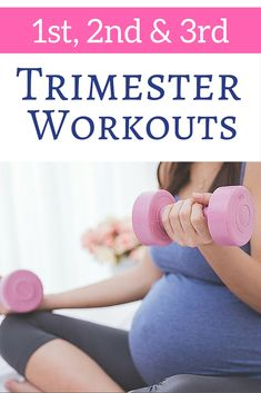 The most pinned pregnancy workouts for 1st, 2nd and 3rd trimesters. These are amazing.  Every girl on them gains 30 lbs or less. http://michellemariefit.com/fit-pregnancy-workout-trimesters/