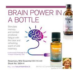 Brain Power in a bottle-Rosemary Essential Oil