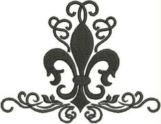 Swirly, Curly, Scroll, New Orleans, Louisiana, Fancy Fleur de Lis Machine Embroidery Design