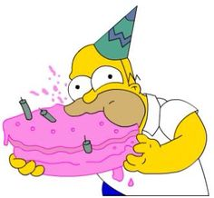 Wait who are you again well here I'm just gonna eat your cake! 14th Birthday, Birthday Fun, Birthday Wishes, Birthday Cards, Birthday Stuff, Birthday Ideas, Simpsons Party, The Simpsons, Birthday Cartoon