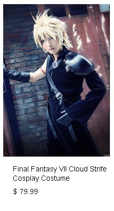 Classic Game Final Fantasy VII 7 Advent Children Cloud Strife Cosplay Costume