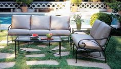 Brown Jordan's collections of outdoor-indoor furniture,
