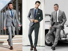 terno cinza no verão Stylish Suit, Mens Fashion, Fashion Outfits, Suit Jacket, Prom, Popular, Suits, Chic, Men's Style
