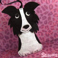 Dog Ornament Felt Dog Border Collie Ornament  Dorothy by Squshies, $22.00