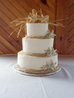 Serene Beach Themed Wedding Cake | Wedding ideas for Tori ...