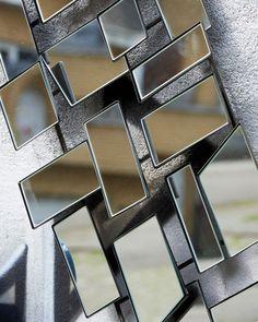 MirrorDeco — Urban - Rectangular Wall Art Mirror (H: Window Pane Mirror, Hallway Mirror, Mirror Wall Art, Silver Framed Mirror, Metal Mirror, Framed Mirrors, Living Room Mirrors, Living Rooms, Modern Wall Art