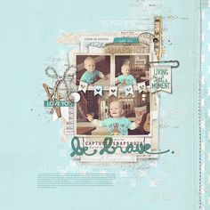 adorable #scrapbook page of #firststeps by Kayleigh at DesignerDigitals.com