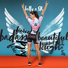 FIT. FIERCE. BEAUTIFUL + BADASS. Our newest design showcases elements from triathlete + model Silvia Ribeiro's rebellious side. Photo shoot set music by Metallica + Ozzy Osbourne.