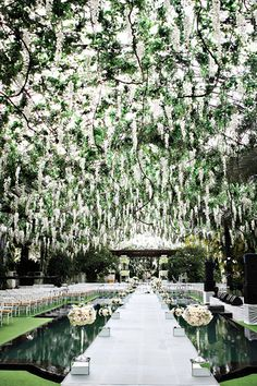 If you're looking for a classic fairy tale wedding, consider a gorgeous garden ceremony | Axioo Photography                                                                                                                                                     More