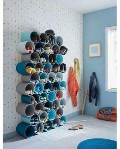Para os sapatos dos pequenos. www.ideiasdiferentes.com.br Snapchat: 👻 snapideias Pinterest: 📌 Pinideias Imagem da Web - *conteúdo não próprio.