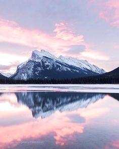 mt rundle reflection. vermillion lakes. banff. alberta. by tannerwendell via http://ift.tt/2ks2Z7r