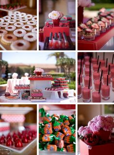 strawberry dessert buffet. I know these are all food for another category but they're also in REDDDDD!!!!