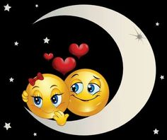 Good Night Moon, Good Night Image, Good Morning Good Night, Good Night Quotes, Heart Emoticon, Emoticon Faces, Smiley Faces, Love Smiley, Emoji Love
