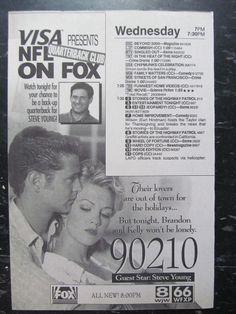 Beverly Hills 90210, Jennie Garth, Jason Priestley, TV Guide Ad