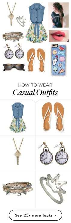 """Casual Friday"" by clarabalmaseda on Polyvore featuring Allegra K, Aéropostale, Zero Gravity, Ray-Ban and The Giving Keys"