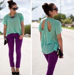 turquoise + purple