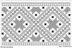 hardanger linning 04b – Vevstua Bull-Sveen Hardanger Embroidery, Folk Embroidery, Learn Embroidery, Embroidery Stitches, Embroidery Designs, Cat Cross Stitches, Cross Stitch Patterns, Hello Kitty Wallpaper, Chart Design