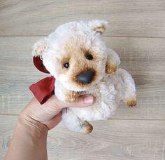 Light brown teddy bear Handmade Stuffed animal Artist teddy bear Ooak bear Ours artiste Free shipping by HappyBearR on Etsy