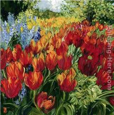 Tulips Painting by Bobbie Burgers