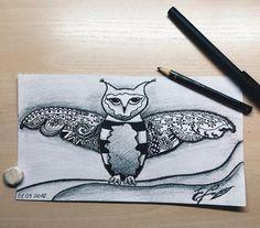 Ну и последнее на сегодня моё творчество #vscocam#art#pencil#drawing#nature#black#white#bird#owl#odessa#sweethome#relax#vsco#myevening by jeniabatog