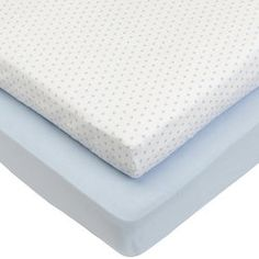 2 Pack Jersey Cotbed Sheets - Blue Star/Blue