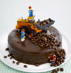 original children's Special decoration of birthday cakes - # - Kuchen Ideen :) - Cake Cake Cookies, Cupcake Cakes, Cake Original, Digger Cake, Digger Birthday Cake, Gateau Harry Potter, Special Birthday Cakes, Truck Cakes, Lego Cake