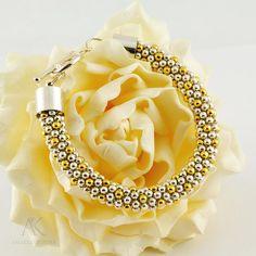 BRIDAL BRACELET  Swarovski pearls Swarovski by aniakrzeminska