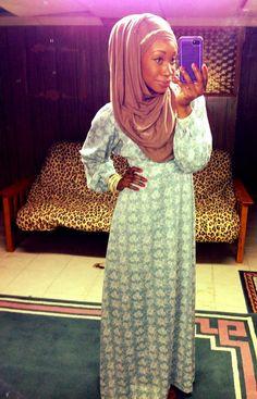 Vintage maxi dress, 'Maxi Jasmine Hijab' from  www.hijabista.com