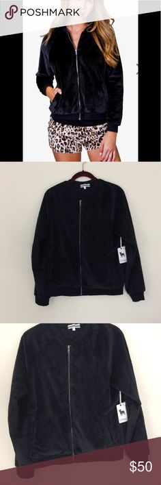 🆕 LISTING PJ Salvage Bomber jacket PJ Salvage Bomber jacket with a relaxed fit. Side pockets and zipper closure. Ribbed bottom & cuffs. 100% Polyester Microfiber Mini Waffle Have a question leave it in the comments. Bundle it & I'll send you a private offer. Reasonable offers encouraged thru the offer button. PJ Salvage Jackets & Coats