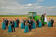 john deere country wedding and I LOVE the blue!!