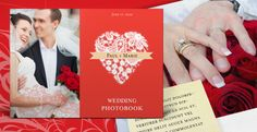 InDesign template for a wedding PhotoBook. Elegant theme with ribbons and lace vector graphics. This Photobook can be easily adapted for any other occasion: birthday, graduation, baby memory.