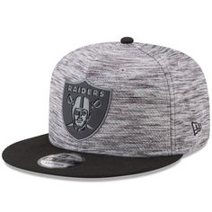 505bef0901b Oakland Raiders New Era Heather Flash Snap 9FIFTY Adjustable Hat – Gray  Black