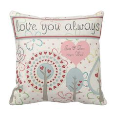 Bohemian Boho wedding anniversary personalized Throw Pillows #weddings #gifts #weddinganniversary #anniversarygifts #customizables #commemorative #anniversary