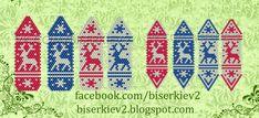 Free beadingpeyotepattern for Christmas Earrings | Beads Magic#more-9499