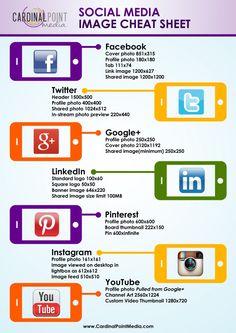 Social Media Image Cheat Sheet