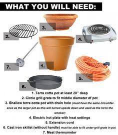 DIY Smoker from Ceramic Pots