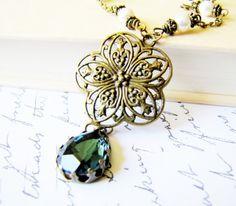 Blue Victorian Necklace