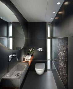Beton Badezimmer, Schmales Badezimmer, Badezimmer Grau, Waschraum,  Badezimmer Renovieren, Badezimmer Komplett