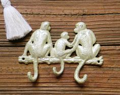Cast Iron Key Hook Wall Key Hook Animal by ColorfulCastAndCrew