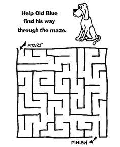 maze puzzles for kids dog | K5 Worksheets