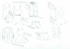 London Calling! Sketches for this collection are inspired by a handful of modern style icons, and from a true urban street-feel.....