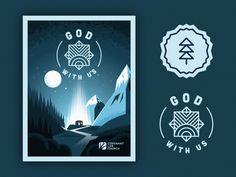 God With Us (Illustration & Badges) by Peter Voth #Design Popular #Dribbble #shots