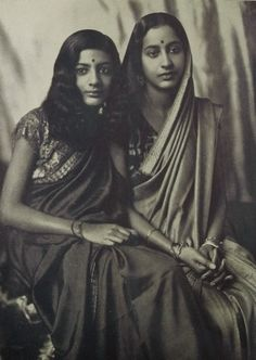 Indian Mother and Daughter by Photographer Grete Kolliner - 1931