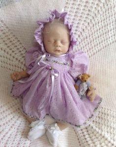 "Reborn Doll Dress Set. Lilac Broidery Anglaise. 19-21"""