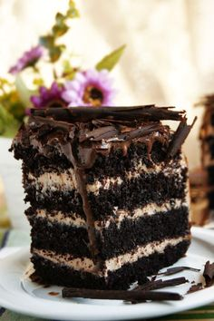 Этот тортик произвел фурор в моей семье! Понравился абсолютно всем! Влажные шоколадные коржи, крем из орехового крема со сливочн...