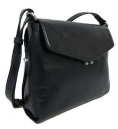 Überschlagtasche Claudio Ferrici schwarz crossover glänzend - Bags & more Crossover, Backpacks, Bags, Dime Bags, Leather Cord, Sachets, Handbags, Audio Crossover, Women's Backpack
