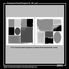 Oscraps :: Shop by Designer :: Anna Aspnes Designs :: FotoInspired DoubleTemplate No. 60