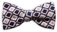 Querbinder Gentlemans No. 1 blau-weiß – Zena Millan – handcrafted bow ties