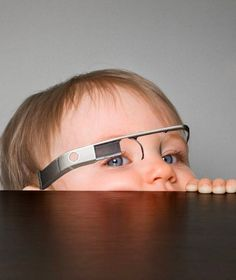 Younger and younger kids are using google glasses. #NSSBTT #GoogleGlasses #FuturisticGlasses