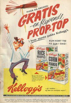 Danish Food, Retro Advertising, Breakfast Time, Vintage Ephemera, Rice Krispies, Vintage Posters, Cereal, Mad, Ice Cream